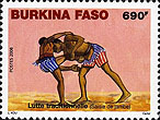 Stamp from Burkino Faso